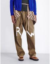 Loewe Rw-print Regular-fit Straight Cotton-blend Trousers