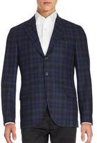 Brunello Cucinelli Plaid Wool-Blend Jacket