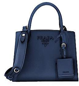 Prada Women's Small Monochrome Leather Satchel
