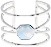 Vince Camuto Openwork Blue Octagon Glass Cuff