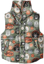 Joe Fresh Toddler Boys' Print Vest, Olive (Size 2)