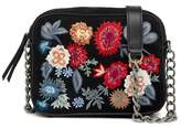 Lucky Brand Super Bloom Floral Embroidered Suede Crossbody Bag