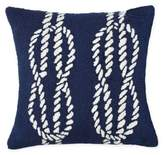 Liora Mann�� Ropes Indoor/Outdoor Square Throw Pillow in Navy