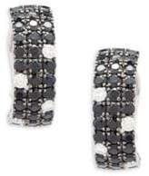Roberto Coin Diamond, Black Sapphire and 18K White Gold Stud Earrings