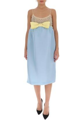Miu Miu Gazar Bow Detail Dress