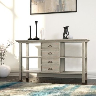 "Alcott Hillâ® Amatury 54"" Solid Wood Console Table Alcott HillA Color: Distressed Gray"