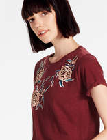 Lucky Brand Oversize Floral Emb Tee