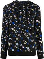 Love Moschino star print drawstring hoodie