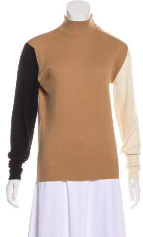 Chanel Colorblock Cashmere Sweater