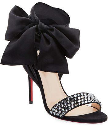 Christian Louboutin Krystal Spike Red Sole Sandals