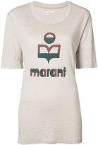 Etoile Isabel Marant logo t-shirt - women - Linen/Flax - XS