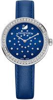 Swarovski Women's Swiss Daytime Blue Leather Strap Watch 31mm 5235485