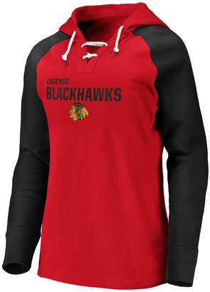 Nhl Women's Chicago Blackhawks Fleece Pullover Hoodie