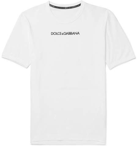 Dolce & Gabbana Slim-Fit Embroidered Cotton-Jersey T-Shirt