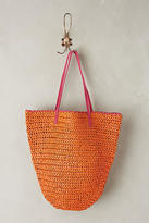 Anthropologie Market Straw Bucket Bag