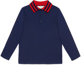 Gucci Children's cotton polo with Web