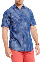 Daniel Cremieux Jeans Star Print Short-Sleeve Woven Shirt
