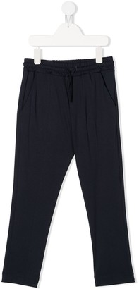 Paolo Pecora Kids Drawstring Tapered Trousers