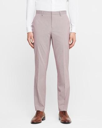 Express Slim Cotton-Blend Houndstooth Dress Pant