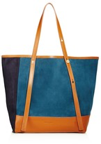 See by Chloe Andy Color Block Suede Tote