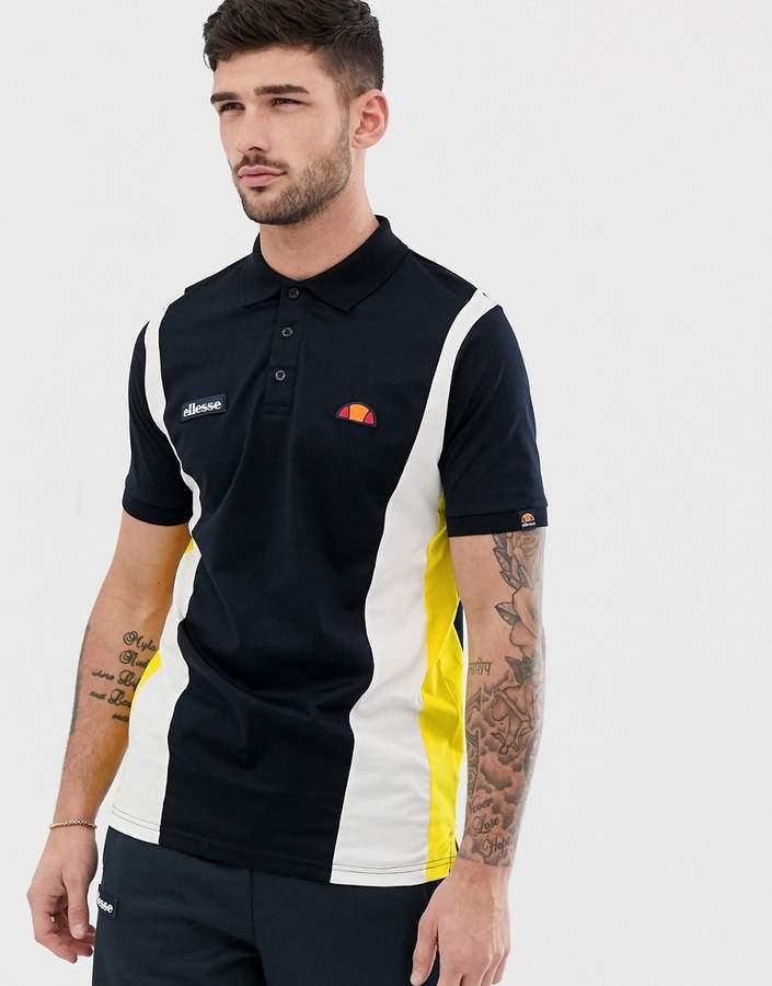 8d84cf54 Villento panel polo shirt in navy