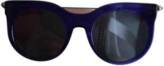 Alexander McQueen Blue Plastic Sunglasses