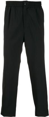 Ami Paris elasticized-waist cropped fit trousers