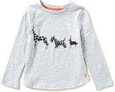 Joules Little Girls 3-6 Bessie Dog Screen Print Top