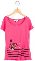 Junior Gaultier Girls' Ballerina Print Short Sleeve Top w/ Tags