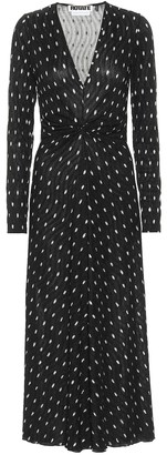 Rotate by Birger Christensen Sierra polka-dot crepe midi dress