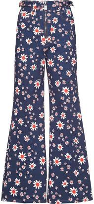 Miu Miu Floral Print Flared Trousers