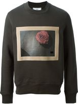 Ami Alexandre Mattiussi framed rose sweatshirt