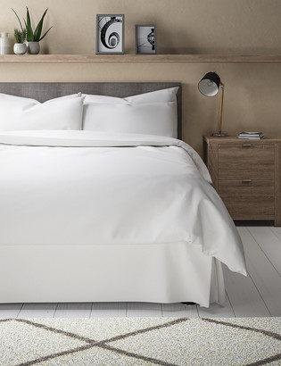 Marks and Spencer Egyptian Cotton 400 Thread Count Percale Valance Sheet