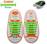 Coolnice® No Tie Shoelaces for Kids funny 12pcs - Environmentally safe silicone - Lazy Shoestrings - Color of