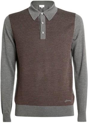 Brioni Two-Tone Polo Shirt