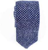 Black Blue and Cream Knitted Cashmere Tie