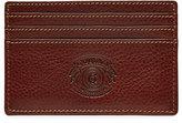 Ghurka Slim Leather Card Case, Vintage Chestnut