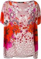 Roberto Cavalli Garden of Eden print T-shirt - women - Silk - 44