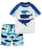 Carter's Toddler Boy Whales Rash Guard & Swim Trunks Set
