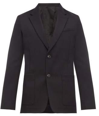 Ami Single Breasted Virgin Wool Twill Blazer - Mens - Navy