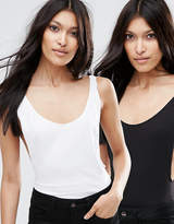 Asos Singlet Body With Scoop Back 2 Pack
