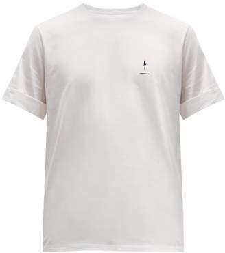Neil Barrett Logo-print Cotton-jersey T-shirt - Mens - White