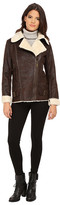 Vince Camuto Asymmetical Faux Shearling With Sherpa Collar J8491
