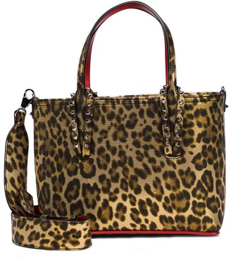 Christian Louboutin Cabata Small leopard-print leather tote