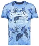 Superdry Shop Print Tshirt Overdyed Dry Cobolt