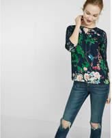 Express spring garden keyhole lace blouse