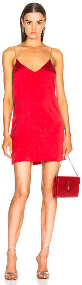 Amiri Silk Studded Slip Dress