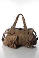 Mulberry Pink Leather Pocket Front Small Roxanne Tassel Satchel Handbag