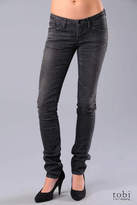 Eve Straight Leg Jeans in Worn Black Stretch