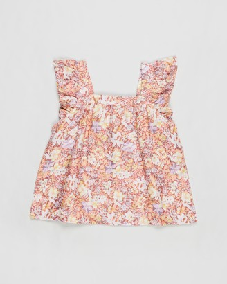 Cotton On Girl's Pink Sleeveless Tops - Perri Ruffle Sleeve Top - Teens - Size 3 YRS at The Iconic